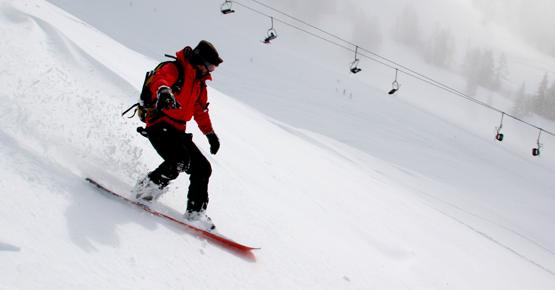 snowboard in val di fassa
